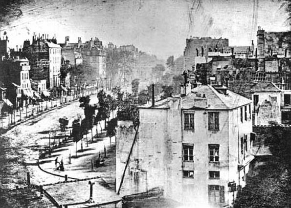 Louis Daguerre, Paris Boulevard, 1839, Daguerreotype
