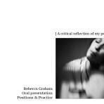 MA- creating my Oral presentation : reflection