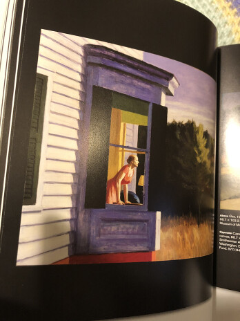Fig 2, Graham, Rebecca 2020. iPhone shot of pg 24 in art visionaries. Cape cod morning by Edward Hopper.