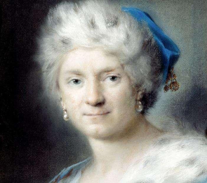 Fig 2, Rosalba Carriera Self-Portrait as Winter, circa 1730