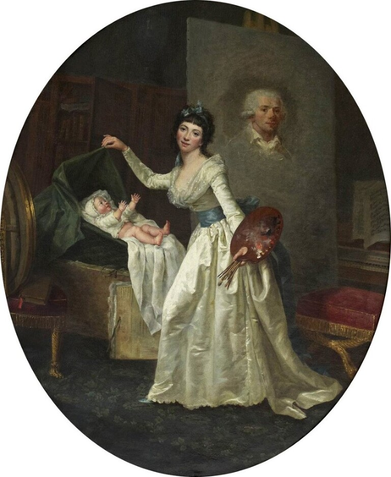 Fig 1, Marie Nicole Dumont, The artist at her occupation. c 1789