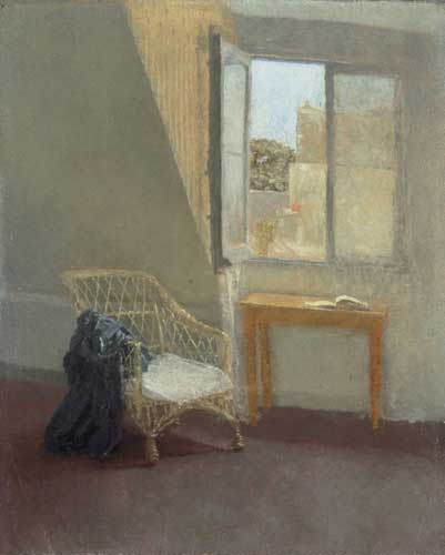Fig 3, John, Gwen. 1907-9. A corner of te artists room in Paris