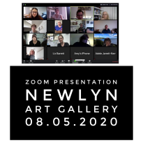 08.05.2020 Zoom presentation Newlyn Art gallery
