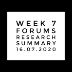 Week 7 Forums, research, summary . 16.07.2020